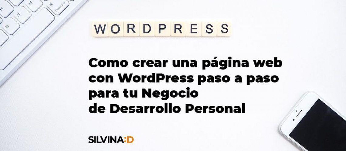 Como crear una pagina web con WordPress paso a paso