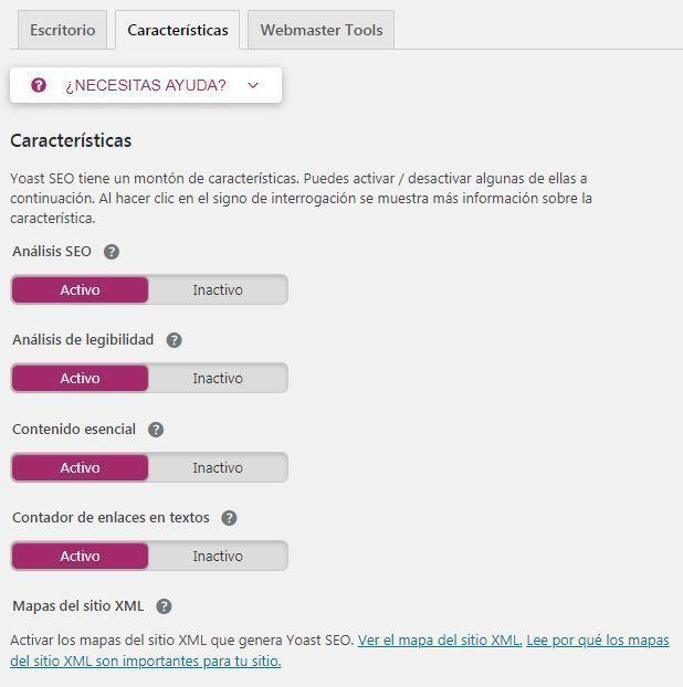 Crear sitemap WordPress YOAST